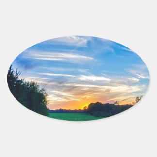 tierras de labrantío Carolina del Sur el condado Pegatina Ovalada
