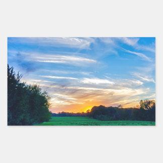 tierras de labrantío Carolina del Sur el condado Pegatina Rectangular