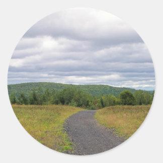 Tierras de labrantío de Maine Etiqueta Redonda