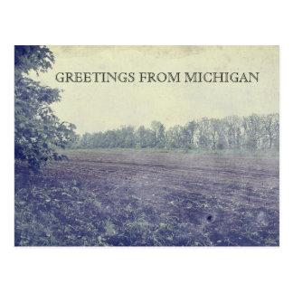 Tierras de labrantío de Michigan Tarjeta Postal