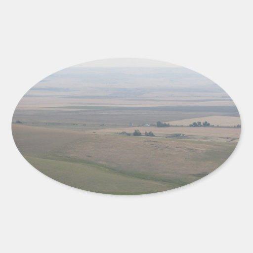 Tierras de labrantío de Oregon Pegatina Ovalada