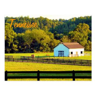 Tierras de labrantío de Tennessee Tarjeta Postal