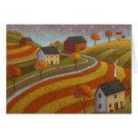 Tierras de labrantío del otoño felicitacion