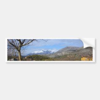 Tierras de labrantío en invierno en Calabria Pegatina Para Auto