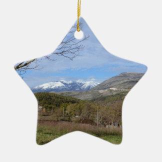 Tierras de labrantío en invierno en Calabria Adornos De Navidad