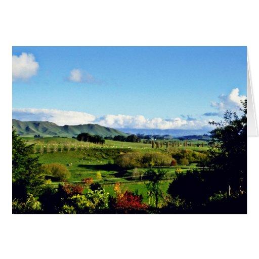 Tierras de labrantío, Hastings, isla del norte Tarjeta De Felicitación
