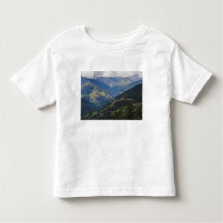 Tierras de labrantío y pueblo en el Himalaya T Shirt