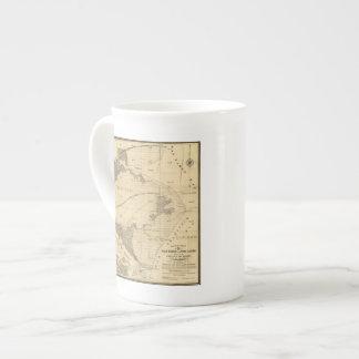 Tierras del saladar y de la marea taza de porcelana
