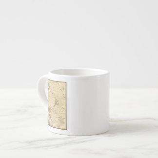 Tierras del saladar y de la marea taza espresso
