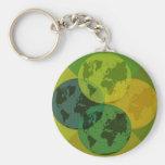 Tierras verdes llavero personalizado