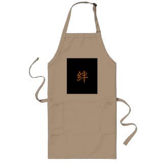 Ties-in-kanji bond friendship long apron