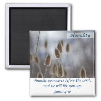 Tiesel - humildad imán cuadrado