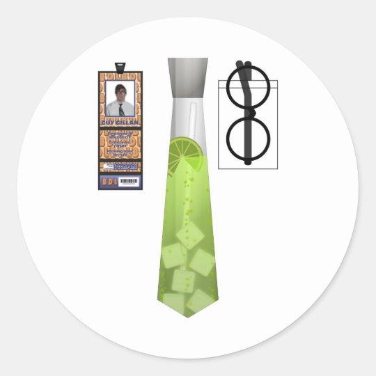 TieShirt019- Margarita copy Classic Round Sticker