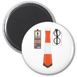 TieShirt024- Cone copy Fridge Magnets