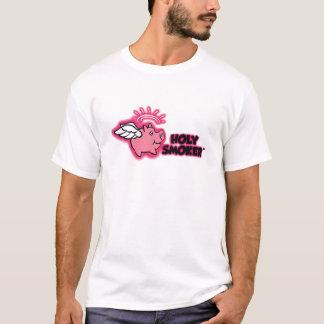 TIF santo del rosa del logotipo del fumador Playera