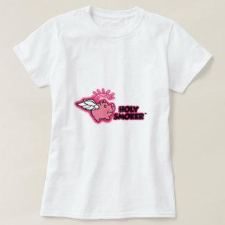 TIF santo del rosa del logotipo del fumador Poleras