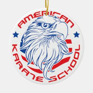 tiff_DS_American_Karate_School_Eagle_Logo1.tiff Ceramic Ornament