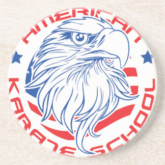 tiff_DS_American_Karate_School_Eagle_Logo1.tiff Drink Coaster