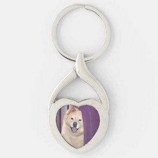 TIFFA heARTdog chow keychain