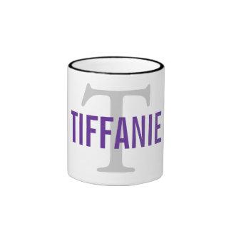 Tiffanie Cat Monogram Design Ringer Mug