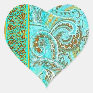 Tiffany 2 heart Shaped Seal Heart Sticker