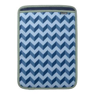 Tiffany and Navy Blue Modern Chevron Pattern MacBook Air Sleeve