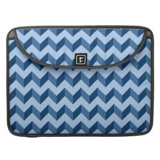 Tiffany and Navy Blue Modern Chevron Pattern MacBook Pro Sleeve