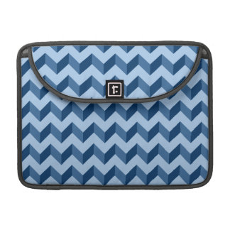 Tiffany and Navy Blue Modern Chevron Pattern Sleeves For MacBooks