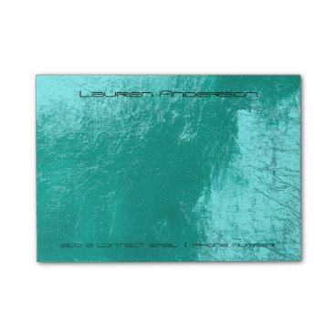 McTiffany Tiffany Aqua Tiffany Aqua Black Office Business Personalised Post-it Notes