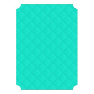 Tiffany Aqua Blue Quilted Pattern 5x7 Paper Invitation Card