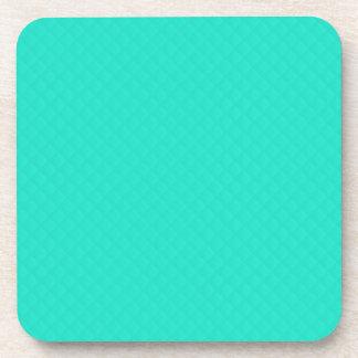 Tiffany Aqua Blue Quilted Pattern Coasters