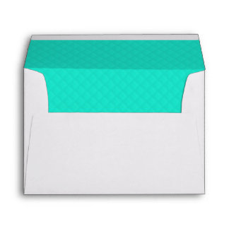 Tiffany Aqua Blue Quilted Pattern Envelope