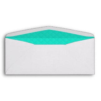 Tiffany Aqua Blue Quilted Pattern Envelopes