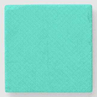 Tiffany Aqua Blue Quilted Pattern Stone Coaster
