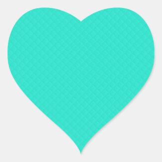 Tiffany Aqua Blue Quilted Pattern Heart Sticker