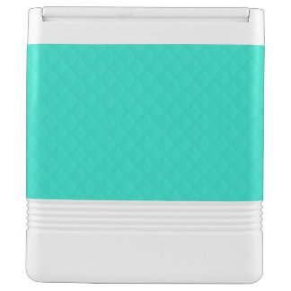 Tiffany Aqua Blue Quilted Pattern Igloo Drink Cooler