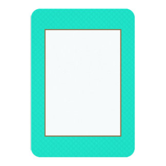 Tiffany Aqua Blue Quilted Pattern Personalized Announcement