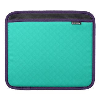 Tiffany Aqua Blue Quilted Pattern iPad Sleeve