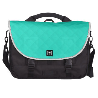 Tiffany Aqua Blue Quilted Pattern Commuter Bags