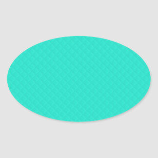 Tiffany Aqua Blue Quilted Pattern Oval Sticker