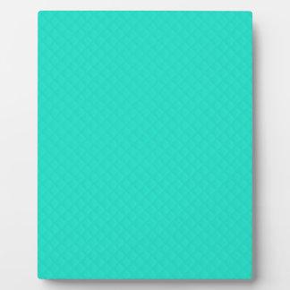 Tiffany Aqua Blue Quilted Pattern Display Plaque