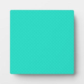 Tiffany Aqua Blue Quilted Pattern Plaque
