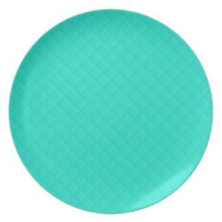 Tiffany Aqua Blue Quilted Pattern Party Plate