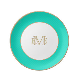 Tiffany Aqua Blue Quilted Pattern Plate  sc 1 st  Zazzle & Tiffany Aqua Blue Plates | Zazzle