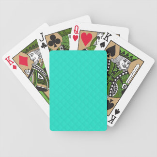 Tiffany Aqua Blue Quilted Pattern Bicycle Playing Cards