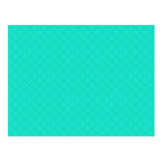 Tiffany Aqua Blue Quilted Pattern Postcard