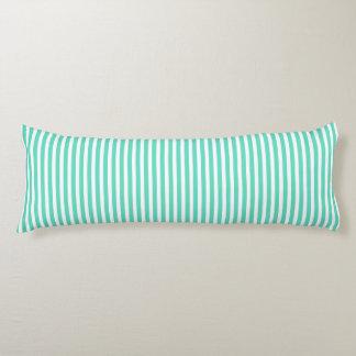 Tiffany Aqua Blue Sailor Stripes Body Pillow
