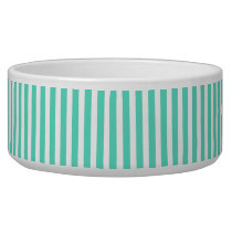 Tiffany Aqua Blue Sailor Stripes Bowl