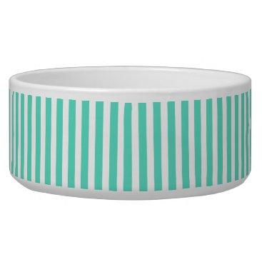 McTiffany Tiffany Aqua Tiffany Aqua Blue Sailor Stripes Bowl