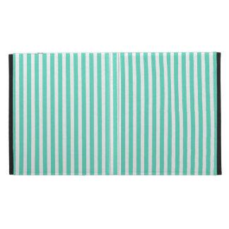 Tiffany Aqua Blue Sailor Stripes iPad Cases